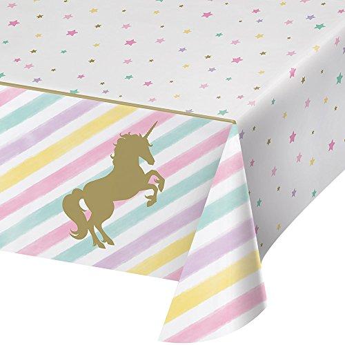 Creative Convertting - Kunststoff-Tischdecke 137 x 259 Unicorn Sparkle, Mehrfarbig, 8C329302