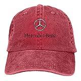 Men Vintage Adjustable Dad-Hat Customized Mercedes Benz Logo Funny Casual Fashion Hat, Red Sombreros y Gorras