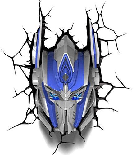 L&L Merchandise Transformers 3d-Wandbild, Nachtlicht, Optimus Prime