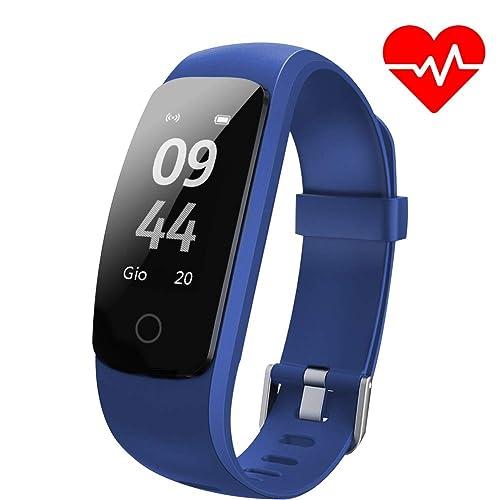 1c49d844289b Pulsera de Actividad Aneken Pulsera Inteligente con Pulsómetro Pulsera  deportiva y Monitor de Ritmo Cardíaco Impermeable