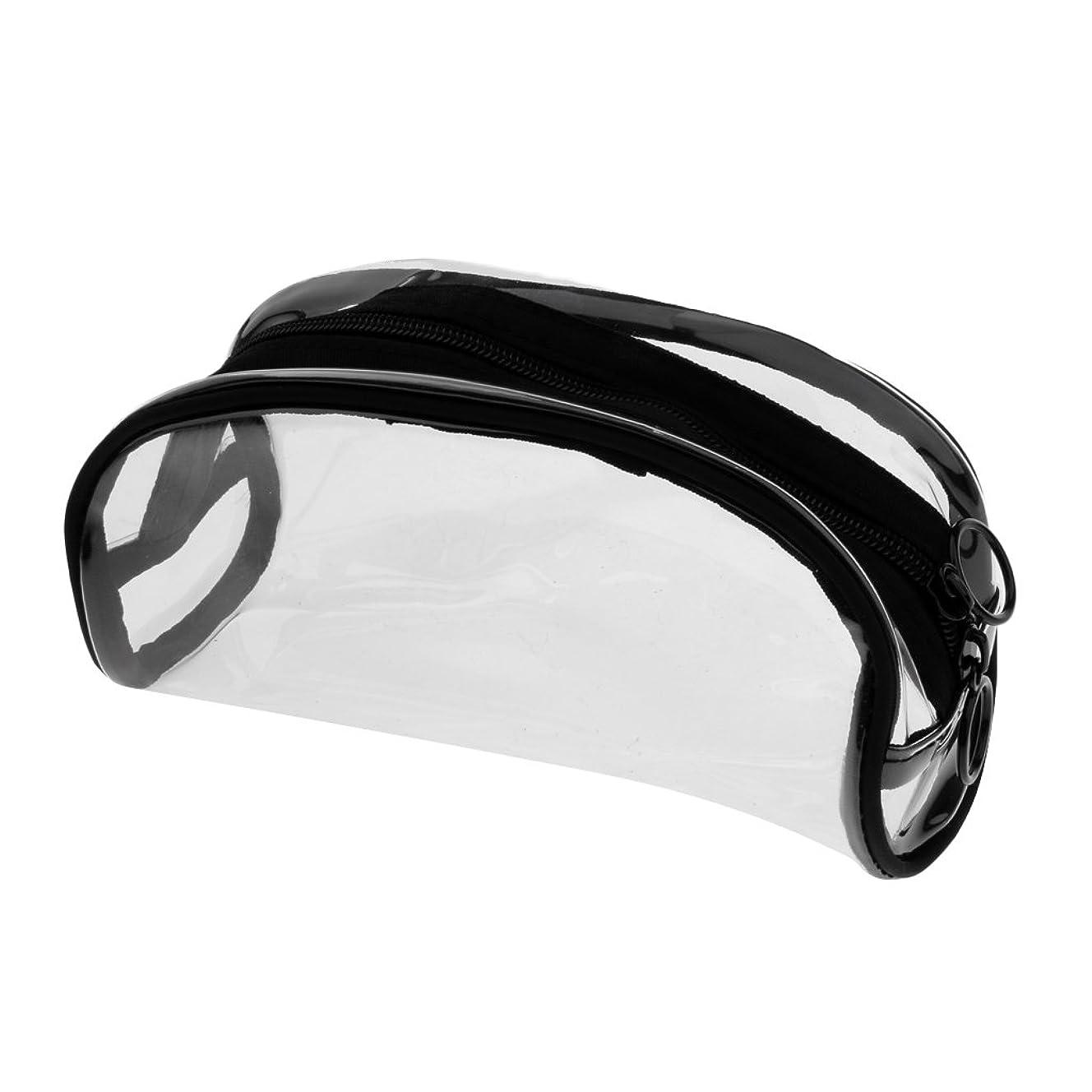 ハンカチ飢え不健康CUTICATE メイクバッグ 化粧ポーチ PVC クリア ジッパーバッグ メイクポーチ 透明 全4タイプ - #2