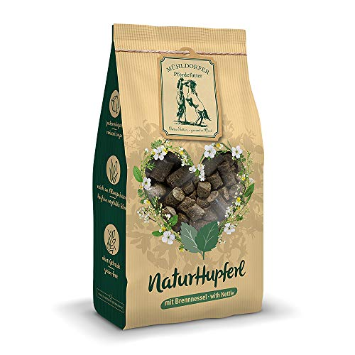 Mühldorfer NaturLiebe Brennnessel, 1 kg, naturgesunde Leckerli für Pferde, getreidefrei, ohne Melasse und Zusatzstoffe, zucker- und stärkereduziert