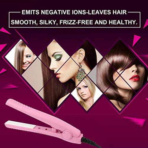 Mini fanshion Portable Ceramic Hair Curl Straightener Flat Iron Perm Splint YX