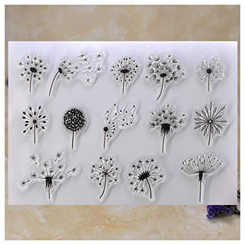 Kwan Crafts Pusteblume Transparente Stempel zum Basteln von Karten, Dekoration und DIY Scrapbooking