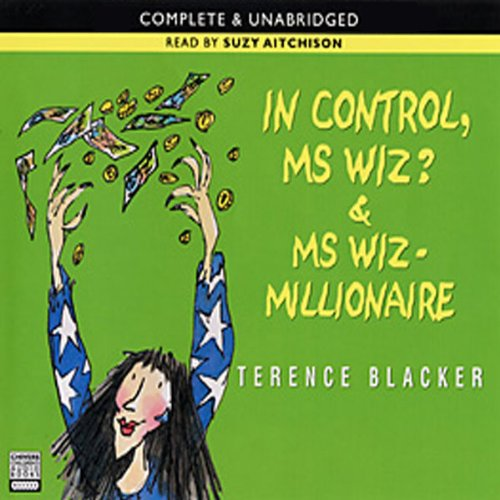 'In Control, Ms Wiz?' and 'Ms Wiz audiobook cover art