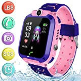Kids Waterproof Smartwatch Phone - Children Touchscreen Watch Position LBS Locator with Call