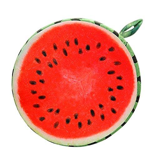 Vococal® Fruit Ronde Chaise de Bureau Retour Coussin de Soutien Canapé Coussin D'Pastèque