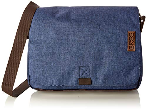 BREE Collection Unisex-Erwachsene Punch Style 49, Jeans Denim, Messen. S19 Umhängetasche, Blau), 8x38x28 cm