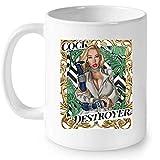 Delano Cock Destroyers - Full-Wrap Coffee White Mug