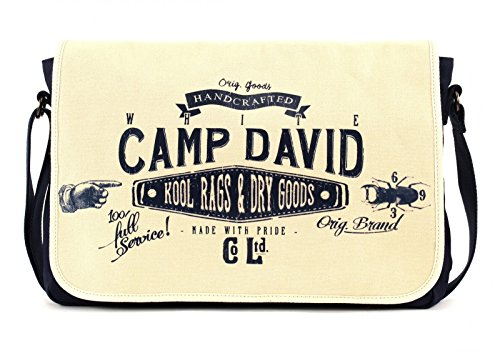 Camp David Blue Creek Messengerbag Offwhite