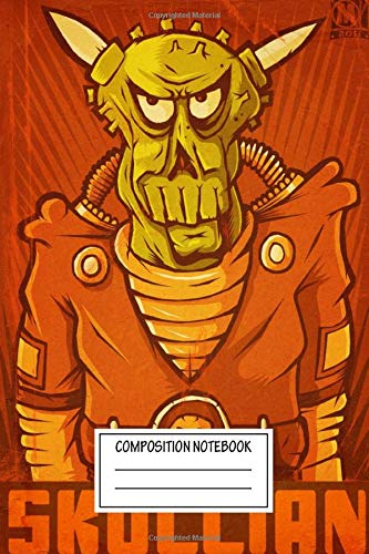 Composition Notebook: Movies Alien Commander Skullian Aboard The Ss Borerock Illus Robots Galore Wide Ruled Note Book, Diary, Planner, Journal for Writing