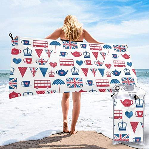 Bathroom Towels Shower Towels Toalla de playa de secado rápido British Flag-Britain English England Beach Towels 140 X 70