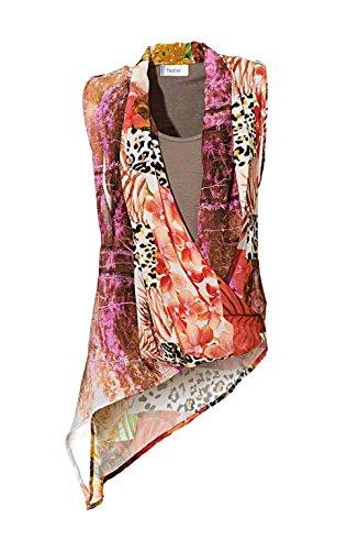 Heine Damen-Bluse Chiffon-Druckbluse Mehrfarbig Größe 34
