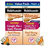 Robitussin Honey Severe Cough, Flu & Sore Throat Day & Night Value Pack, Ages 12+, 2 x 4 oz