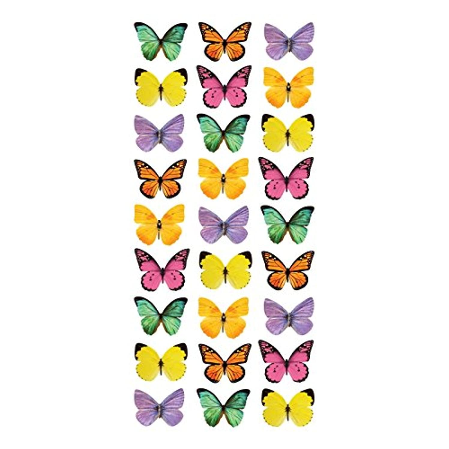 Paper House Productions STP-0050RTE Mini Mixed Butterflies Stickers, Puffy 1 Sheet
