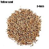 YG-ct 300g Bloodstone riverstones Pietra Acquario substrato Fish Tank Naturale Fondo di Sabbia paesaggistica Decorare (Colore : Yellow Sand)