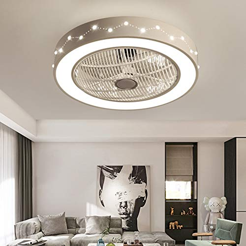 Deckenventilator mit Beleuchtung Deckenventilatorlicht Fernbedienung LED Constellation Ventilatorlicht Dimmbares Schlafzimmer Büro 220V
