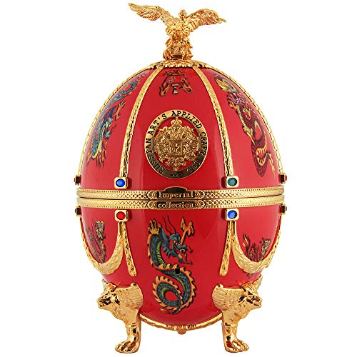 IMPERIAL COLLECTION Huevo Vodka Faberge rojo con dragón