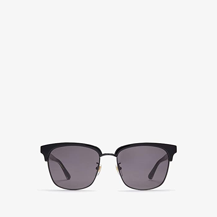Gucci  GG0382S (Black/Ruthenium/Grey) Fashion Sunglasses