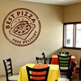 XCGZ Stickers muraux Pizza Wall Stickers Food Decal Poster