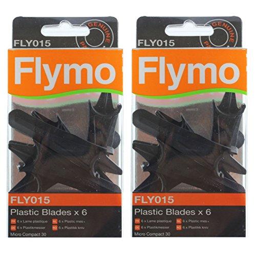 6 x Plastique Lames Pour Flymo Compact 30 MC30 Tondeuse à gazon FLY015
