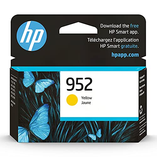 Original HP 952 Yellow Ink Cartridge | Works with HP OfficeJet 8702, HP OfficeJet Pro 7720, 7740, 8210, 8710, 8720, 8730, 8740 Series | Eligible for Instant Ink | L0S55AN