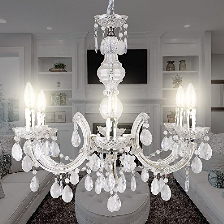 MIA Light Kristall Kronleuchter 610mm Klassisch  Transparent  Lüsterlampe Kristalllüster Kristalllampe Kristallleuchte