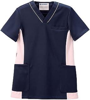 ナースリー 配色マルチジャケット ストレッチスクラブ 医療 白衣 レディース