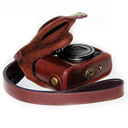 First2savvv XJPT-G16-A10 cuerpo completo ajuste preciso de cuero de la PU cámara digital...