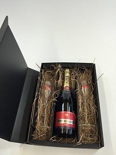 Piper Heidsieck Set/Geschenkset - Piper Heidsieck Champagner Brut 750ml (12% Vol) + 2x Champagner Gläser