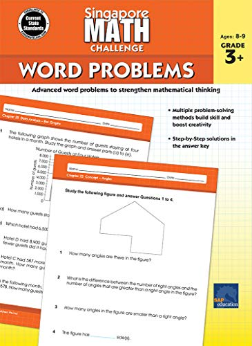 Singapore Math Challenge Word Problems Grade 3+