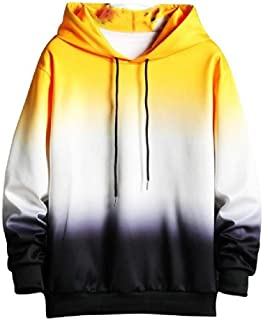 Howely Mens Juniors' Hip Hop Fashion Gradients Athletic Fit Hooded Sweatshirt