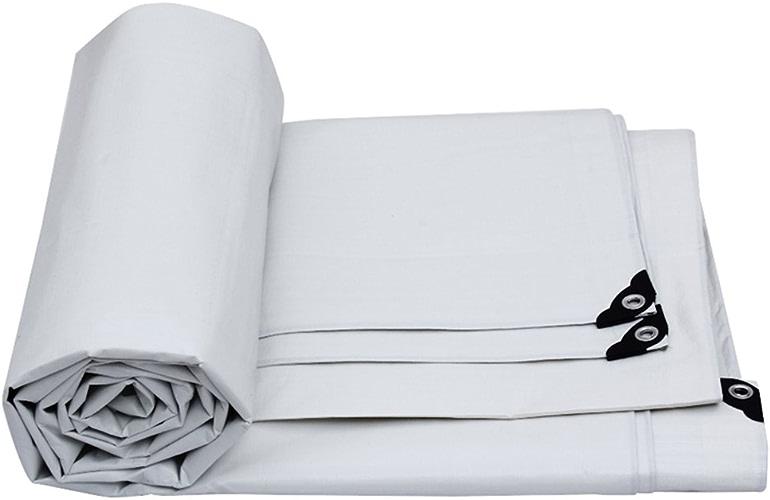 JINSH Le Tapis imperméable imperméable de bache de bache de Tissu imperméable de Tissu, Isolant Solaire de voituregaison de fret Anti-vieillisseHommest résistant (Couleur   blanc, Taille   4x3M)