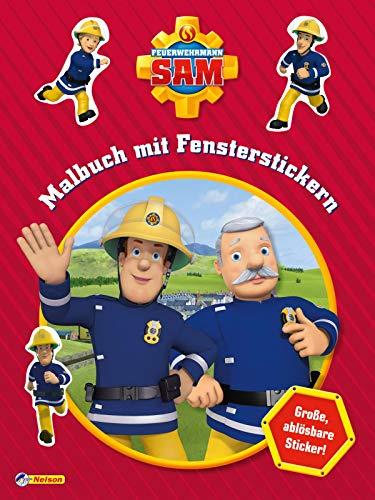 Feuerwehrmann Sam: Malbuch mit Fensterstickern: 10 große, ablösbare Sticker!
