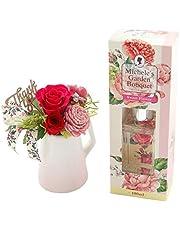 花由 母の日 ギフト 洋風プリザーブドフラワー と 花束の香りのデュフューザー セット