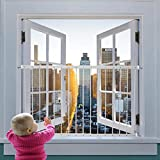 Fairy Baby Window Guards for Children, Adjustable Wide Child Safety Window Guard Prevents Accidental Falls, Home Security Childproof Interior Bar Guard for Windows Wide 31.49'-36.22'(1 Panel)