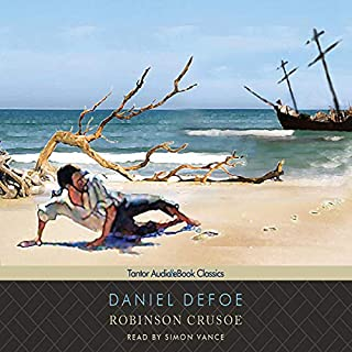 Robinson Crusoe                   By:                                                                                                                                 Daniel Defoe                               Narrated by:                                                                                                                                 Simon Vance                      Length: 10 hrs and 10 mins     1,082 ratings     Overall 4.4