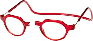 Clic Magnetic Reading Glasses Metro in Red +1.75