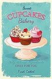Cartel de Chapa genérica 20 x 30 cm Cupcakes Bakery Cafe Konditorei panadería café Pastel Cartel