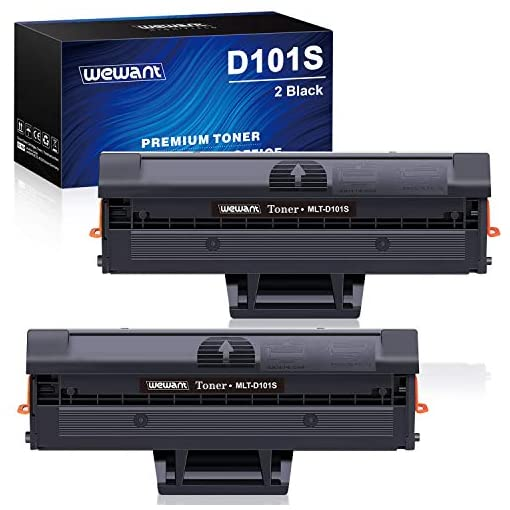 Wewant Toner D101S Reemplazo para Samsung MLT-D101S Cartucho de Tóner Compatible con Samsung ML-2160 ML-2161 ML-2162 ML… 1