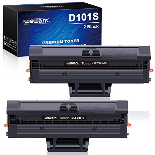 Wewant Toner D101S Cartucce Toner Compatibile Samsung MLT-D101S D101L 101S per Samsung ML-2160 ML-2165 SF-760 SCX-3400 SCX-3405 ML-2165W ML-2161 ML-2162 ML-2168 SCX-3400F SCX-3405FW SF-761, 2 Nero