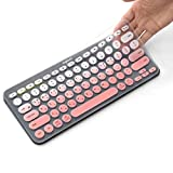 Korean Language Silicone Keyboard Cover Skin for Logitech Bluetooth Multi - Device Model: K380 Ultra Thin Protective Skin Cover (for Logitech K380 Keyboard, Baby Pink)