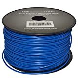 The Wires Zone 18 Gauge AWG 500' Feet ft Stranded Primary Remote Wire Cable (Blue)