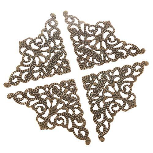 Die Halterung ist auf rechten Winkeln und Ecken befestigt 10Pcs Antique Bronze/Gold/Silber ECKHALTERUNG Schmuckschatulle Holz Fall Scrapbook Album Corner Dekorative Schutz-Schutz
