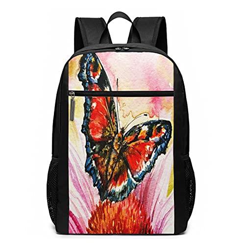 Schulrucksack Roter Schmetterling...