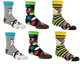 Socks 4 Fun Kinder Socken,6 Paar,35/38,Lustige H&e/Mädchen