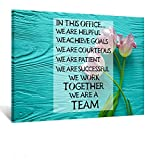 Kreative Arts Inspirational Wall Art Motivational Quotes Teamwork Definition Canvas Painting Sayings Words Pictures Posters Prints Wooden Artwork Decorations for Home Office 24x32inch