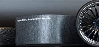 3M 1080 Brushed Black Metallic | BR212 | Vinyl CAR WRAP Film (Sample 2.5in x 4in)