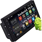EinCar Double Din Bluetooth Car Stereo Android 10.0 Radio 2 Din Quad Core Head Unit Support 7inch Touch Screen GPS Navigation FM AM RDS Phone Mirror 4G WiFi USB SD OBD DAB Steering Wheel 1080P Video