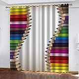 XFHHXFY Funda nórdica Estampada Lápices De Colores 240x220 cm Conjunto de Ropa de Cama de Poliéster de 3 Piezas + 2 Fundas De Almohada, para Todo el Mundo Adultos y Adolescentes